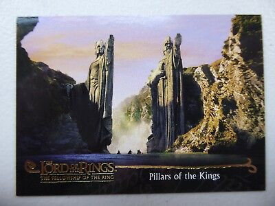 TOPPS Card : LOTR The Fellowship Of The Ring  #148 PILLARS OF THE KINGS