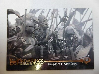 TOPPS Card : LOTR The Return Of The King  #49 KINGDOM UNDER SIEGE