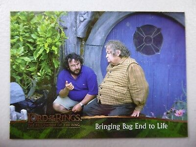 TOPPS Card : LOTR The Fellowship Of The Ring  #85 BRINGING BAG END TO LIFE