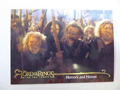 TOPPS Lord of the Rings: The Two Towers - Trading Card #158 HORRORS AND HEROES
