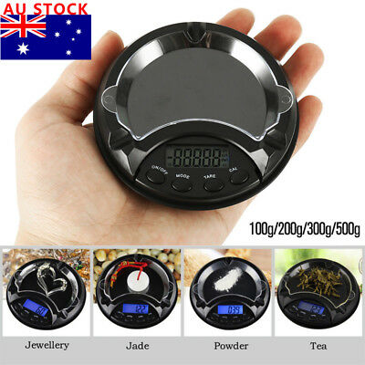 Ashtray Pocket Scale 0.1-500g Mini Compact Digital LCD Weigh Electronic Measure