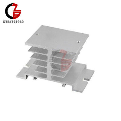 2PCS Aluminum Heat Sink for Solid State Relay SSR Small Heat Dissipation 10A-40A