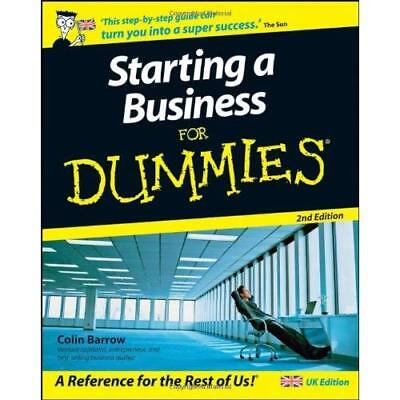Starting A Business For Dummies Barrow, Colin