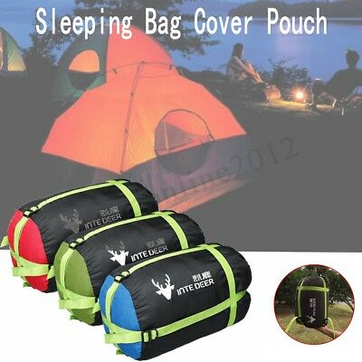 Compression Sack Sleeping Bag Cover Pouch Clothing Stuff Outdoor Camping Hiking