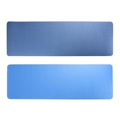 TPE Yoga Mat Non Slip Eco Friendly Dual Layer Fitness Gym Pilate Dual Layer Blue
