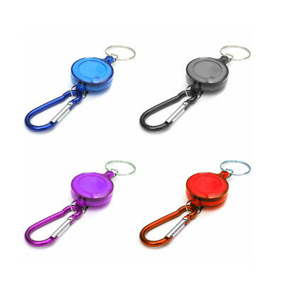 1pcs Multicolor Badge Spreader Carabiner Recoil Retractable Reel Strap