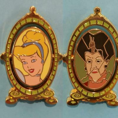 Disney Shopping Princess Cinderella & Lady Tremaine Magic Mirror Spinner LE Pin
