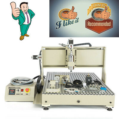 USB 4AXIS CNC Router 6090 Engraver Engraving Machine Drilling Carving 2.2KW 110V