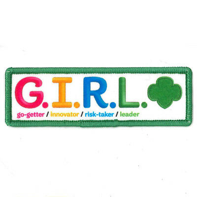 """Girl Guide Scout Brownie BADGE PATCH CREST ~ Girl Scouts G.I.R.L. - 4"""""""