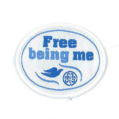 Girl Guide Scout Brownie BADGE PATCH – new! ~ Free Being Me Dove WAGGGS 2""