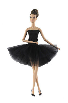 Black Fashion Handmade Ballet Dress/Clothes/Outfit For Barbie Doll P02