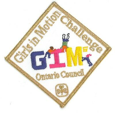 Girl Guide Scout Brownie BADGE PATCH – new! ~ Girls in Motion Ontario gold 3""