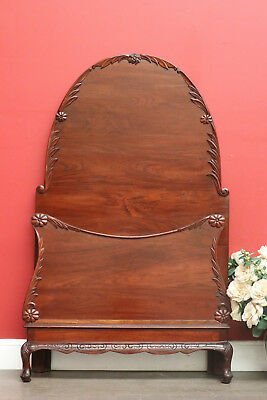 Antique Australian Cedar Single Bed includes Head Board and Foot Only 1 of 2