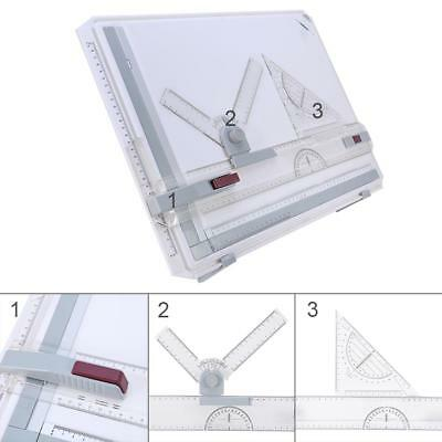 A3 Drawing Board Portable Drafting Table + Parallel Motion Adjust Angle