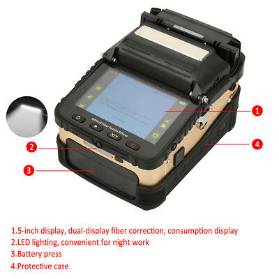 "Ai-8 Automatic Optical Fiber Fusion Splicer Night Operation 5"" LCD 100V-240V GGS"