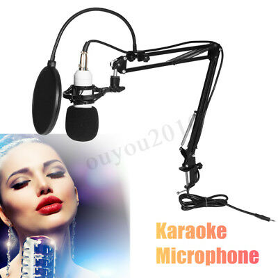 BM-800 Computer Wired Recording Microphone Shock Mount Set Sound Studio