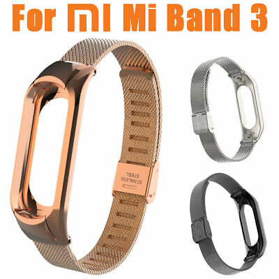 For Xiaomi Mi Band 3 Fashion Stainless Steel Luxury Wrist Strap Metal Wrist Band