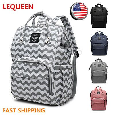 LEQUEEN Waterproof Baby Diaper Bag Mummy Maternity Nappy Travel Handbag Backpack