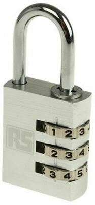 RS PRO 30mm Aluminium Combination Weather Resistant Padlock