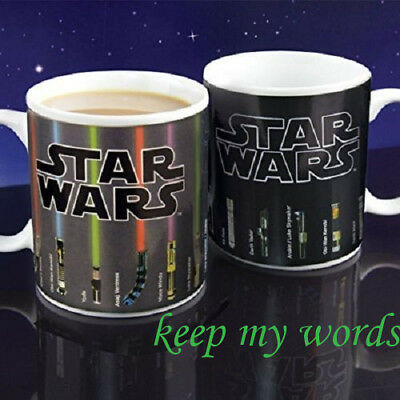 Star wars Topic Lightsaber Heat sensitive Color change Coffee mug cup fans gift