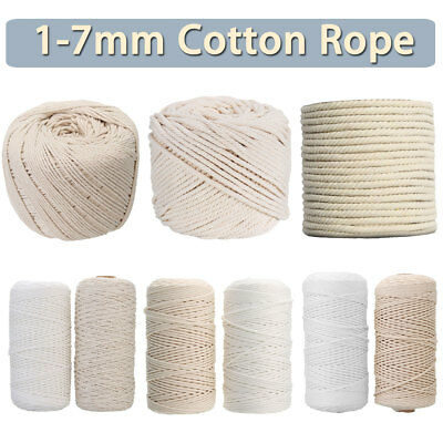 2mmx200m Macrame Cotton Rope Thick Natural Recycled Cord String