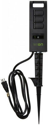 Woods 10-Amp WiOn Outdoor Plug-In Wi-Fi Wireless Switch 3-Outlet Yard Stake 6