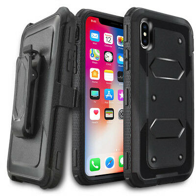 Shockproof Heavy Duty Hard Case Cover With Clip Belt For Apple iPhone Models
