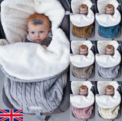 Universal Baby Stroller cosytoes Liner Buggy Padded Luxury Footmuff NATURAL WOOL