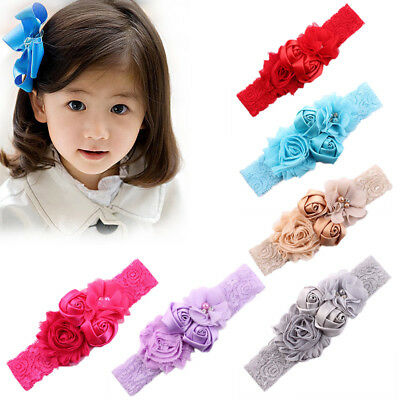 Lace Flowers Hairband Turban Headwear for Newborn Infant Hair Accessories