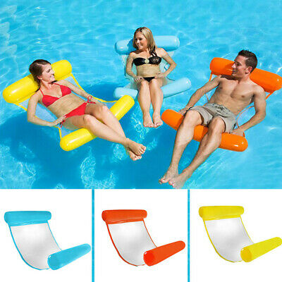 Inflatable Water Hammock Floating Bed Lounge Chair Drifter Swimming Pool Beach F