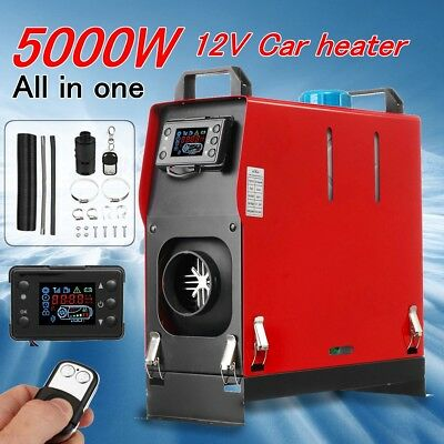 12V 5KW Air Diesel Heater 1 Hole All in one LCD Monitor For Trucks Boats Bus Car