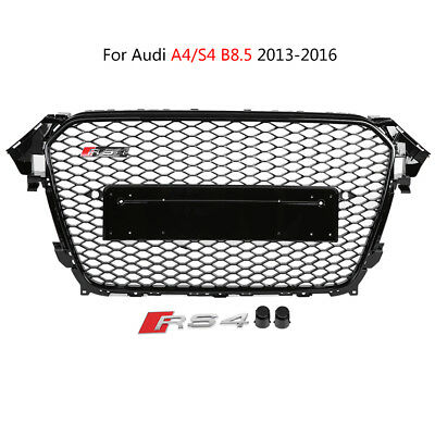 RS4 Front Sport Honeycomb Hood Grill Black for Audi A4/S4 B8.5 2013-2016