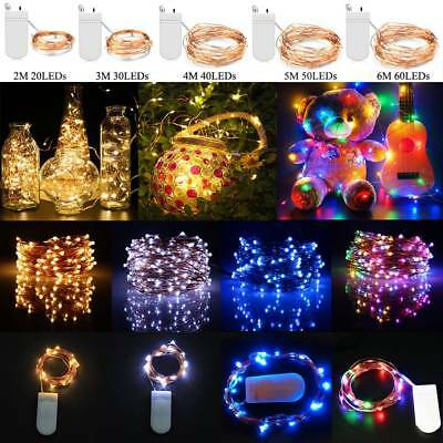 Christmas 20/50/100 LED Micro Wire Copper String Lights Gift Fairy Wedding Party