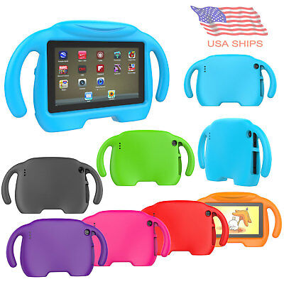 "Fit Amazon Fire 7"" Tablet Kids Shockproof Foam Handle Protect Case Stand Cover"