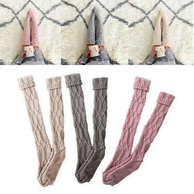 Lady Winter Over The Knee-length Boot Sock Soft Warm Knitted Thigh-High Stocking