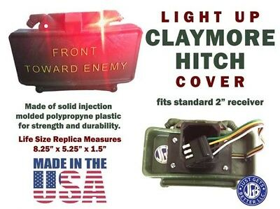 Light Up CLAYMORE HITCH COVER * Life Size Replica Claymore Mine