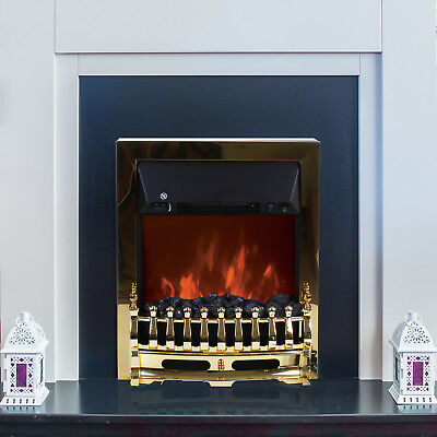 2000W Electric Fireplace Heater Fire Freestanding or Inset Flame Effect Stove