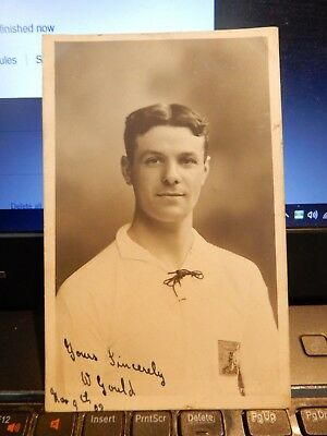 postcard  Willie Gould (born 1886)  English pro footballer SIGNED BRADFORD CITY