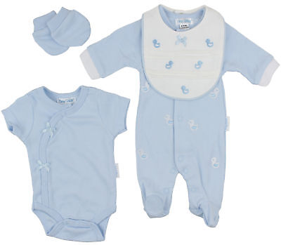 Premature Baby Boys 4 Piece Starter Clothing Layette Gift Set Chicks 3-8lbs