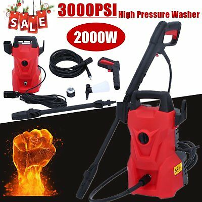 3000PSI Pressure Electric High Pressure Washer 2000W Motor Jet Sprayer 1.6GPM SS