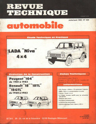 RTA revue technique l'expert automobile n ° 435 LADA NIVA 4X4