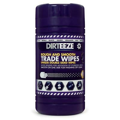 Dirteeze Rough & Smooth Wipes Dispenser Tub 220x200mm Ref DZRS80 [80 Wipes]