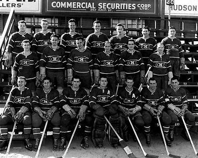 Montreal Canadiens 1948-49 NHL Season Team 8x10 Photo