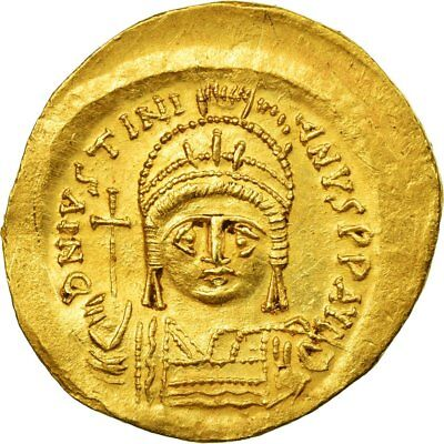 [#512180] Coin, Justinian I, Solidus, 545-565, Constantinople, AU(55-58), Gold