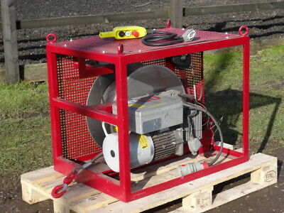 Tractel Tirak X1022 415v 1000kg Wire Rope Hoist Lift in Cage