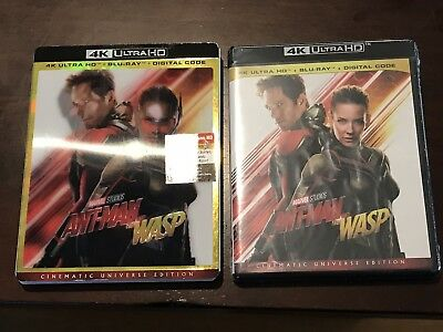 ANT-MAN AND THE WASP 4K UltraHD + Blu-Ray + Digital W Lenticular Slip Cover)New!