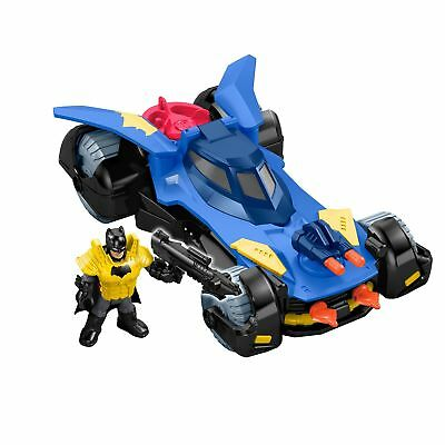Imaginext DHT64 Batmobile, Batman Car with Dart Launcher, Shields and Rotatin...
