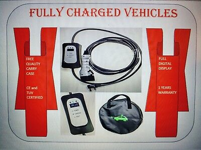 Toyota Auris Hybrid EV charger 5m. Portable so charge at home/work.