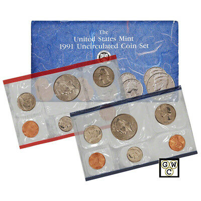 1991 P & D  United States Mint Uncirculated Coin Set of 10 Coins (OOAK)