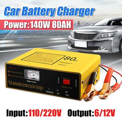 220V 6V/12V 80AH Car Intelligent Battery Charger Full Automatic Negetive Pulse